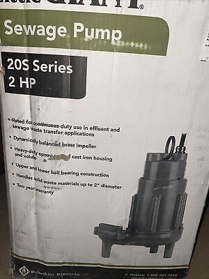 Little Giant 20s-cim 2hp Submersible Sewage Pump