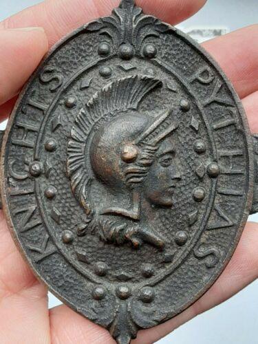 Knights of Pythias Antique uniform brass belt buckle