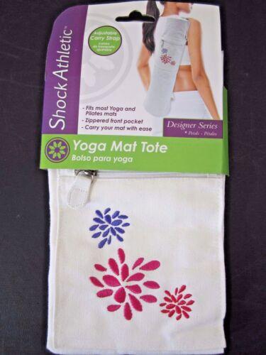 Shock Athletic Yoga Pilates Mat Tote Adjustable Strap New