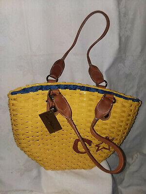 Corto Moltedo Key West Summer Large bag/handbag/beach NWT and dust cover Yellow