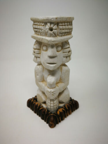 Vintage Mayan god statue chalkware IxChel goddess of fertility