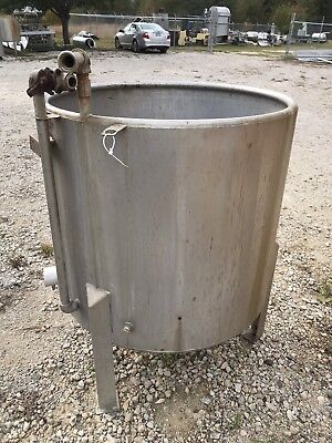 150 Gallon Stainless Steel Vertical Mix Tank Open Top With Internal Heat Coils