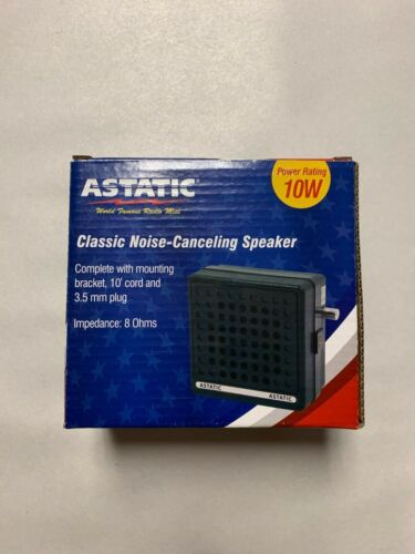Astatic VS6 CB / HAM Radio Noise Canceling External Speaker 10 watt 8ohm 302-VS6