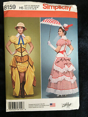 OOP S 8159 Victorian Steampunk Cosplay dress costume pattern Poppins 6-14 UNCUT