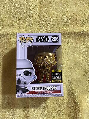 Rare Funko Pop - Star Wars - Stormtrooper Gold #296 Exclusive