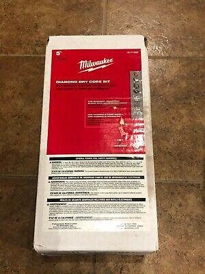 Milwaukee 48-17-0050 5 In Dry Core Diamond Masonry Bit New 10 Drilling Depth