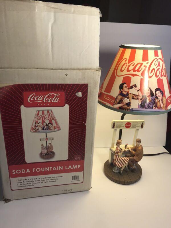 Coca Cola SODA FOUNTAIN LAMP In Original Box