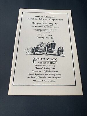 1929 Chevrolet Frontenac Fronty Hot Rod Speed Racing Catalog Cylinder Heads RARE