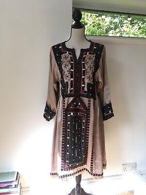 Stucco Vintage Bohemian TopShop Silk Traditional Pakistani Balochi Dress Indian