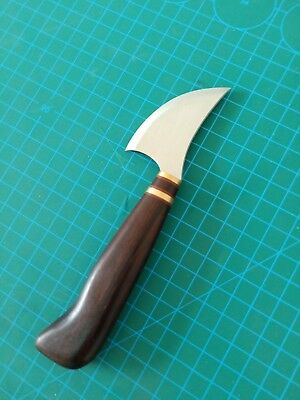 (Crazy cut leather tools small radius pattern cutting knife with rosewood handle )