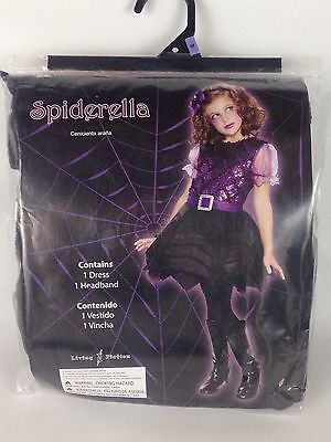 Halloween Costume Girls Spiderella M 8-10 Purim Dress Headband Black Purple New - Spiderella Halloween Costume