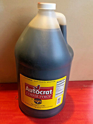 AUTOCRAT COFFEE COFFEE SYRUP 128 OZ JUG RHODE ISLAND FAMOUS NEW ENGLAND DRINK