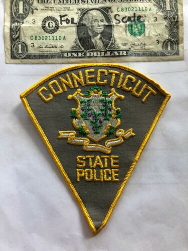 Rarer Connecticut State Police Patch Un-sewn great shape
