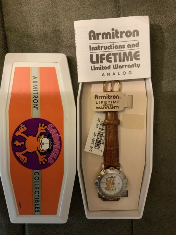 Armitron Garfield Collectibles Paws Watch w/Box and Papers