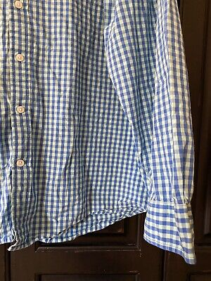 FOUNDRY SHIRT. Men's Blue Casual Business Worn Check Size 3XL COTTON GUC. Cotton Business Men Casual Shirt