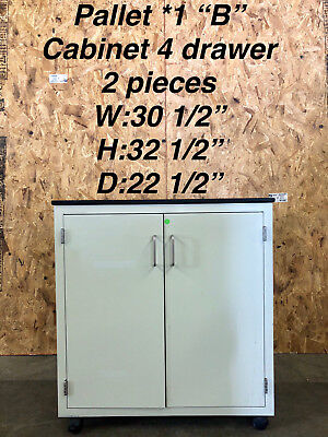 Hamilton Double Door Rolling Lab Cabinet Casework With Attached Epoxy Chem Top