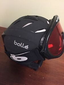 Bolle helmet with goggles