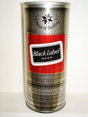 CARLING BLACK LABEL (FRANKENMUTH, MICH) S/S 16oz BEER CAN T237