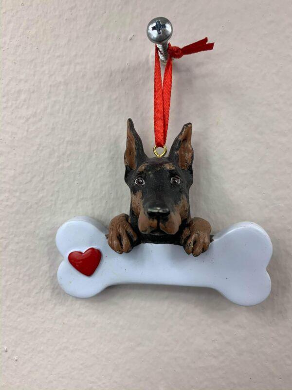 Doberman Pinscher Personalized Christemas Ornament