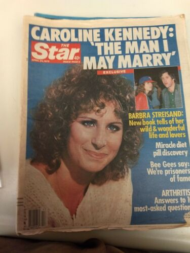 """C2 Barbra Streisand Tabloid """"RAG MAG"""" New Book Tells of Her Life and Lovers"""