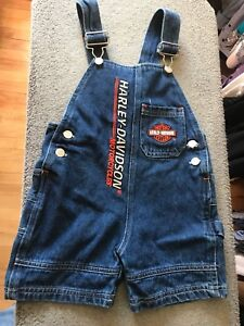 Toddler Harley Davidson overall and leather jacket