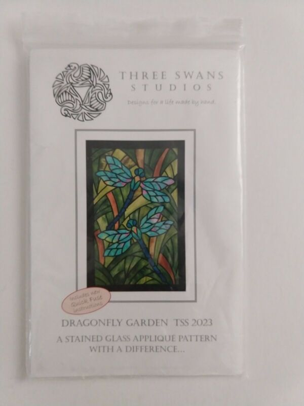 DRAGONFLY GARDEN - A STAINED GLASS PATTERN - TSS2023