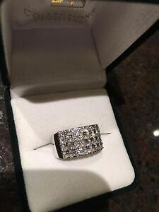 $4750 LUXURY 1.15CTS DIAMOND RING/BAND,18K WHITE GOLD BY JK+VAL! Glen Waverley Monash Area Preview