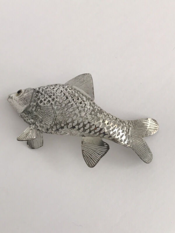 CHRISTOFLE FRANCE LUMIERE Collection Brill Fish Silverplate Figurine Vintage
