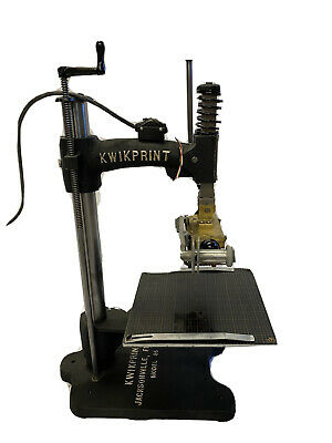 Vintage Kwikprint Model 86 Hot Foil Stamping Machine Restored