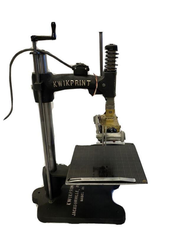 Vintage KwikPrint Model 86 Hot Foil Stamping Machine Restored