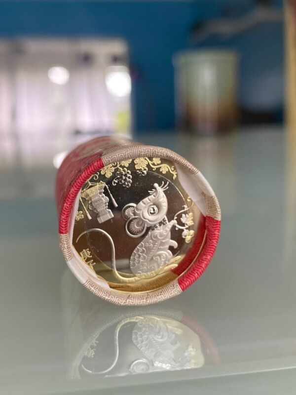 2020 China 10 Yuan Year of the Rat commemorative coin Zodiac. UNC NEW IN HAND