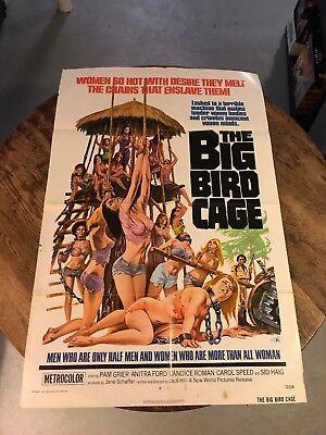 THE BIG BIRD CAGE MOVIE POSTER Women so Hot RARE NEW Sid Haig!