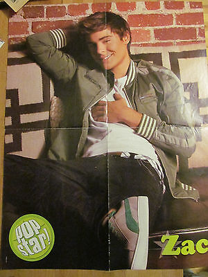 Zac Efron, Ashley Tisdale, Double Sided Four Page Foldout Poster