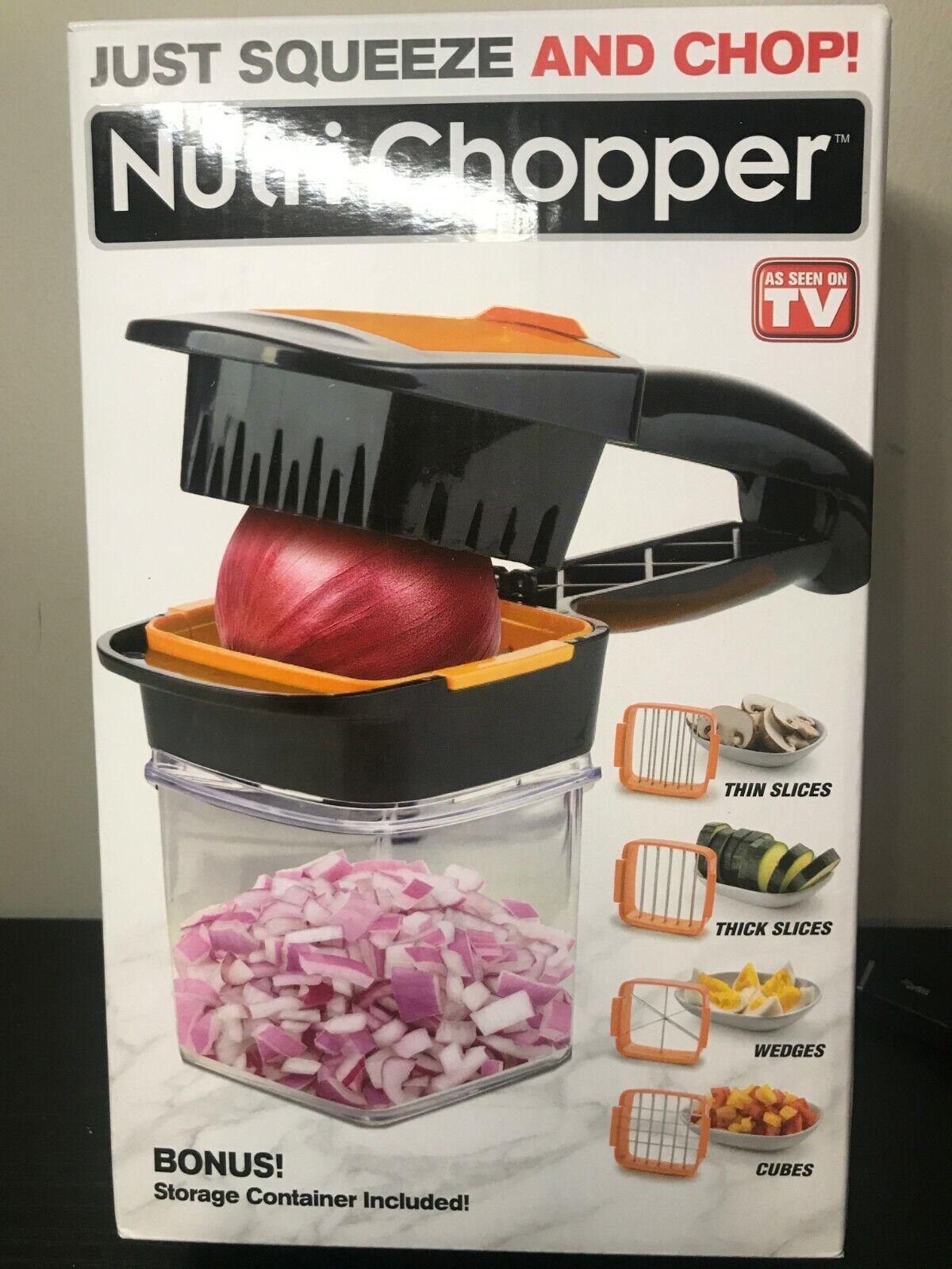 NutriChopper - Food Chopper & Dicer w/ 3 Stainless Steel Bla