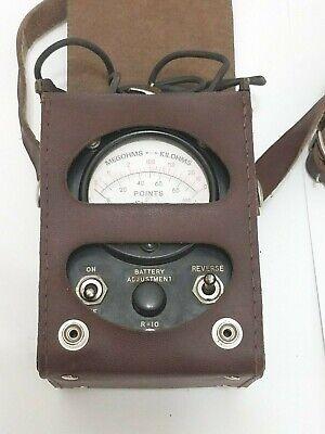 Simpson Vintage Ohm Megohm Kilohm Meter Leather Case Telephone Tester Ck08455l