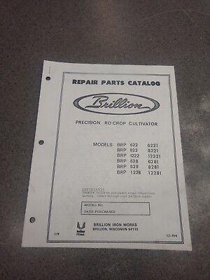 Brillion Precision Ro-crop Cultivator Repair Parts Manual 3j364