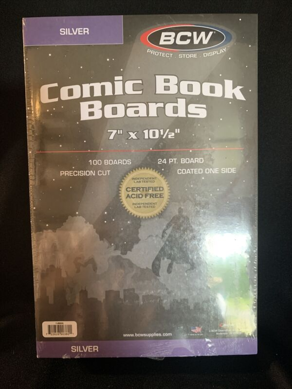 10 Packs of 100 (1000)  High Quality BCW Silver Comic Backing Boards