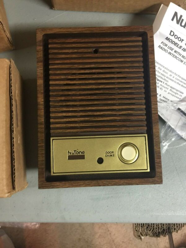 Nutone IS-67D Woodgrain Intercom Door speaker lighted pushbutton IM-4006 IM-3003