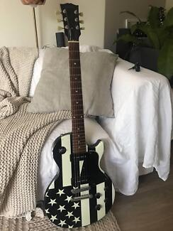 One of a Kind Greenday Gibson Les Paul Guitar