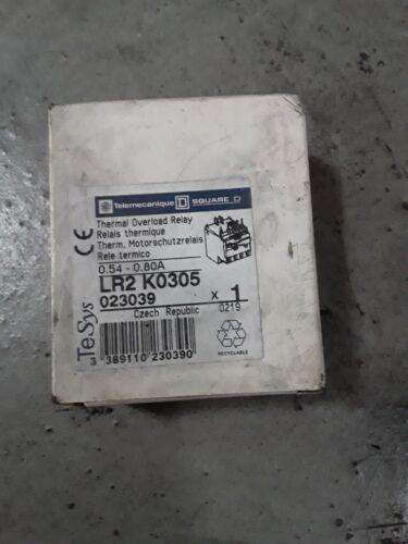 Telemecanique LR2K0305 Overload relay 0.54-0.80A