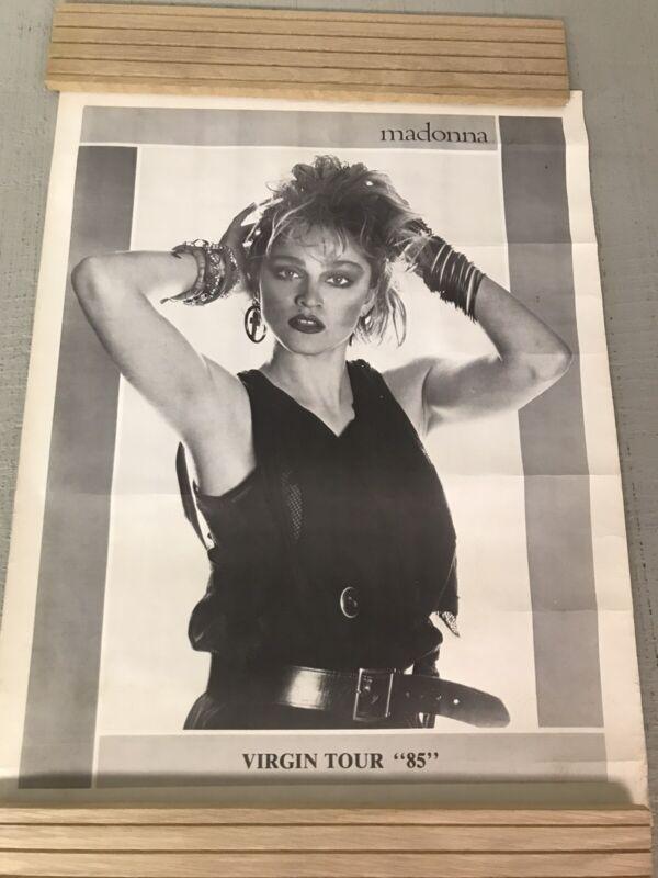Madonna 2 Poster Lot 1984 Vintage Boy Toy 36x22 1985 Virgin Tour 16x21