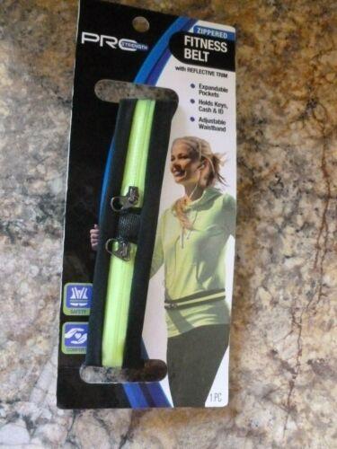 Zippered Pocket Reflective Running Adjustable Waist Belt fits keys phone ID cash