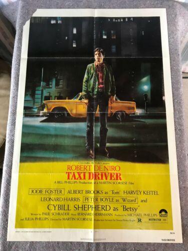 "TAXI DRIVER 1976 ORIG. 1 SHEET MOVIE POSTER 27""x41"" (G+) DE NIRO/FOSTER/KEITEL"