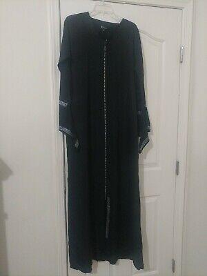 Muslim Kaftan Abaya Jilbab Islamic Women Long Sleeve Cocktail Maxi  Dress