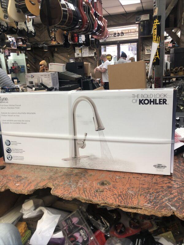 Kohler Tyne Single-Handle Pull-Down Sprayer Kitchen Faucet in Vibrant Stainless