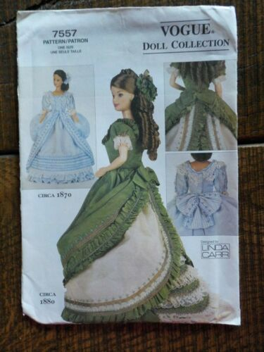 """VOGUE CRAFT DOLL CLOTHES PATTERN #7557,  LINDA CARR, FOR 11 1/2"""" DOLL - UNCUT"""