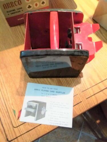 Vintage ARRCO Automatic Playing Card Shuffler - 2 D Cell - Black Burgandy