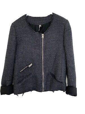 IRO jacket boucle wool metallic grey size 2