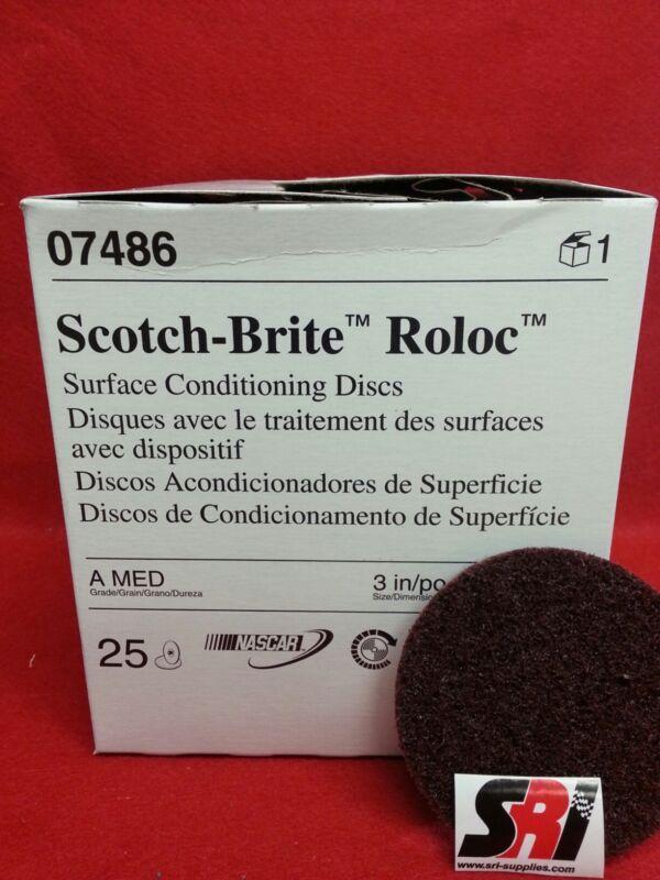 "3M Scotch-Brite Roloc Surface Cond. Disc, 3"", 07486 MED"