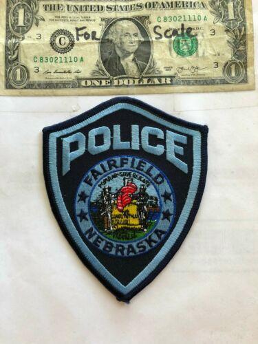 Fairfield Nebraska Police Patch Un-sewn in great shape